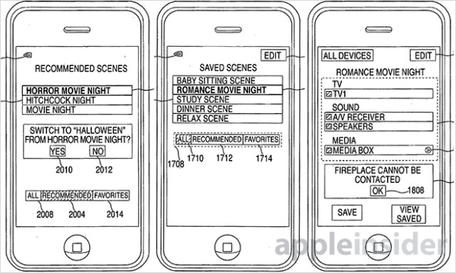 apple patent smart remote