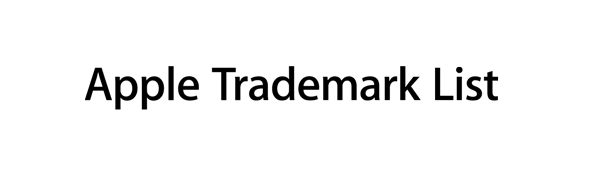 apple trademark list