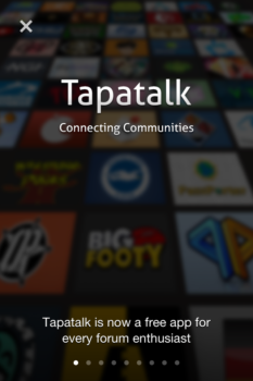Tapatalk is free and Tapatalk Pro is $3.99, which has additional features
