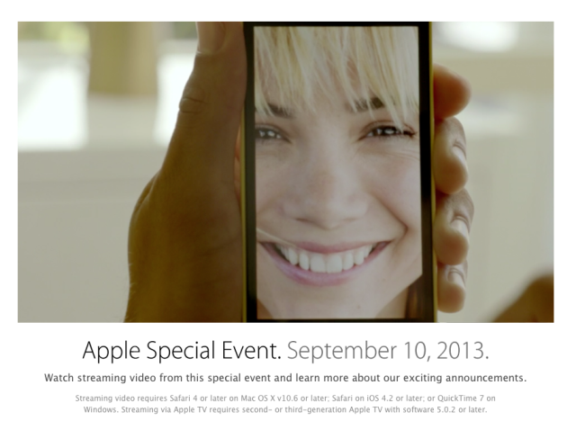 Apple iPhone 5S, iPhone 5C Event Streaming Video Now Live