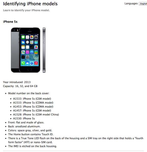 How To Identify Iphone Model >> Apple Explains How To Identify Your Iphone 5s And Iphone 5c Models