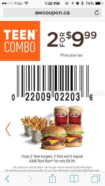 Coupons on your iphone canada