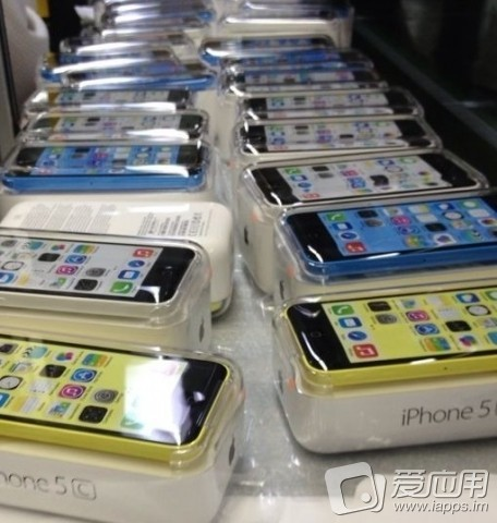 Blue white yellow iphone 5c package