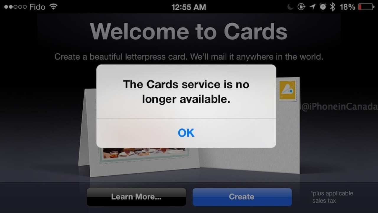 Apple Officially Discontinues The Cards Ios App Announcement