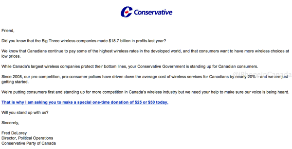 Conservative email