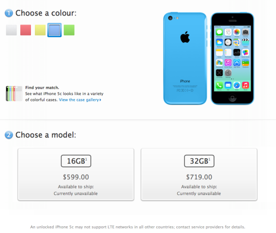 iphone 5c pricing canada
