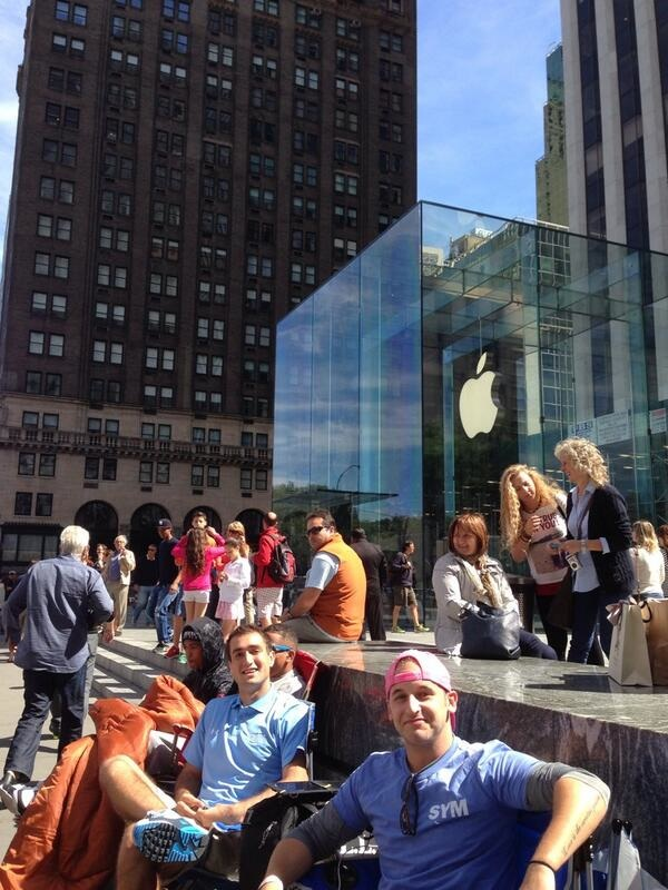 Iphone 5s fifth avenue launch line