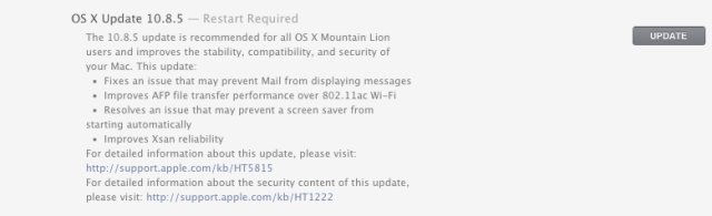 max os 10.8.5 software update
