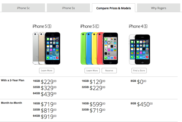 iphone 5s 32gb price rogers iphone 5s pricing revealed starts at 229 on 2 14727