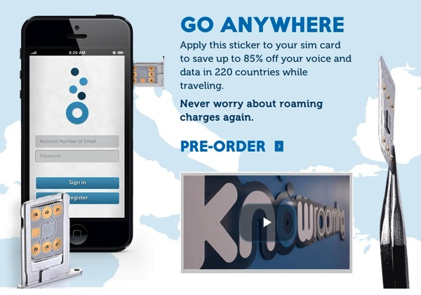 Toronto's KnowRoaming SIM Sticker Offers Cheaper Roaming Charges