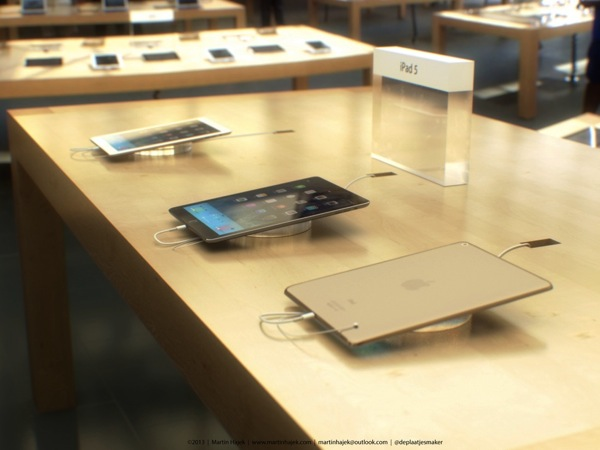 Awesome Renders Imagine Gold 'iPad 5' on Display at the Apple Store [PICS]