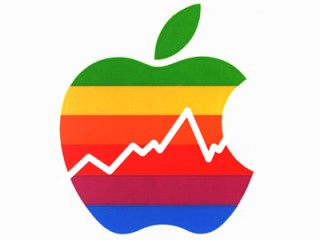Apple logo finance color