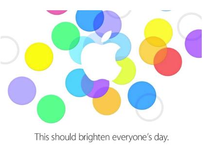 iPhone 5s iPhone 5c invite