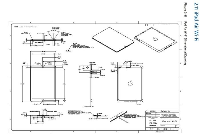 Apple Posts Case Design Schematics For The Ipad Air