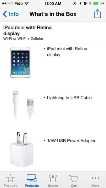 Retina ipad mini charger