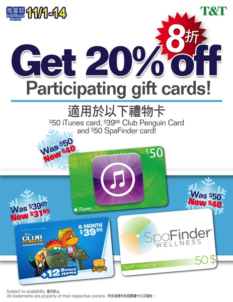 3rd party gift card poster