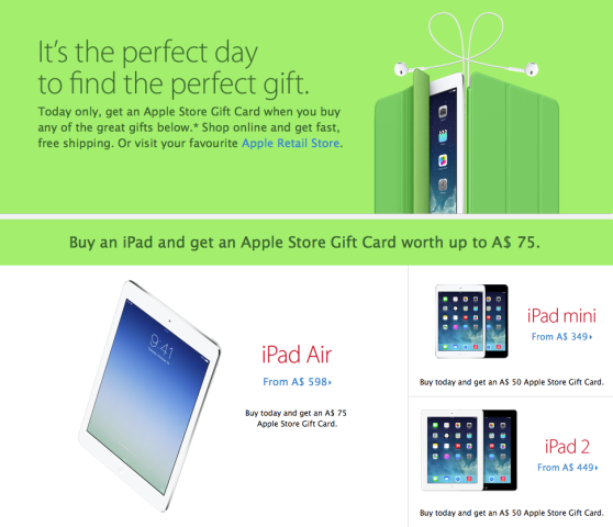 Apple black friday 2013 promotion