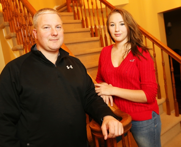 Kirk Darch and his daughter Katelyn Photograph by: Jean Levac , Ottawa Citizen