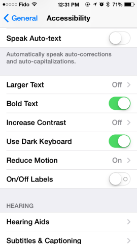 dark keyboard ios 7.1 beta