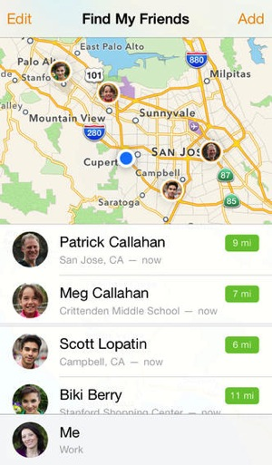 Findmyfriends ios7