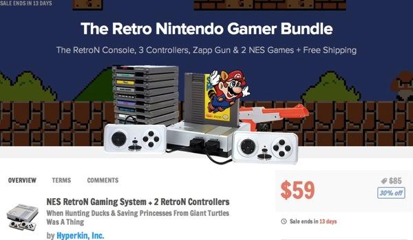 Retro 'Nintendo' Console Bundle Sale: 30% Off Plus Free Shipping [Deals]
