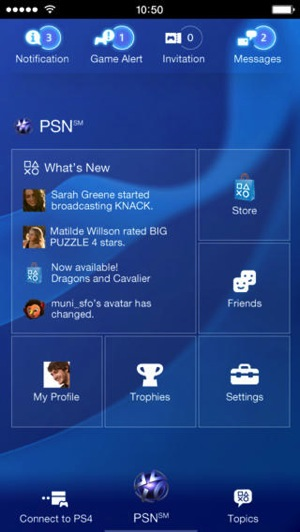 Playstation ios app