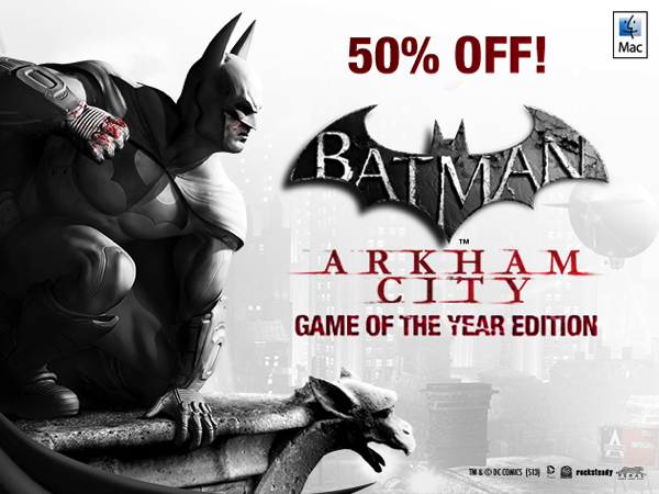 Batman: Arkham City Game of the Year Edition for Mac is 50% Off [Deals]