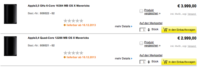 Mac Pro Preorder Germany