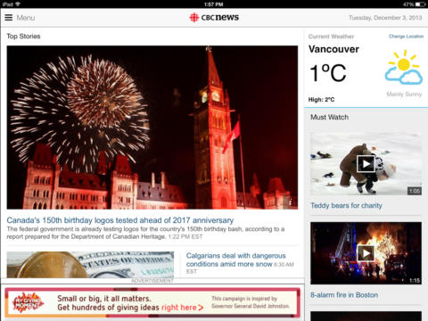 Cbc news ipad