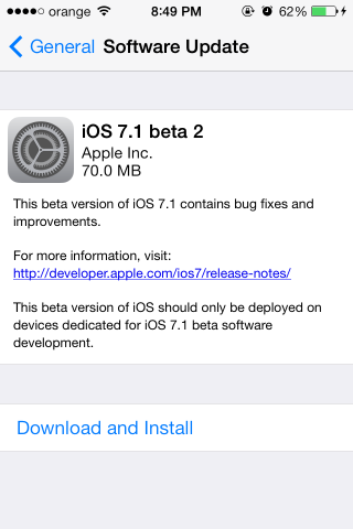 ios 71 beta 2