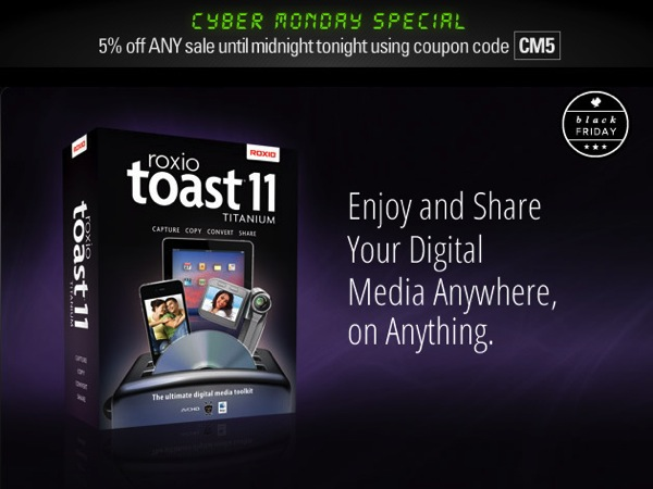 Roxio toast 11 titanium greatly discounted price
