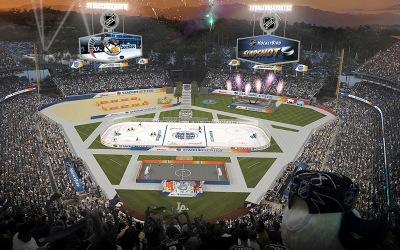 Thumb 2 NHL HockeyBird 2014 Coors Light NHL Stadium Series LA