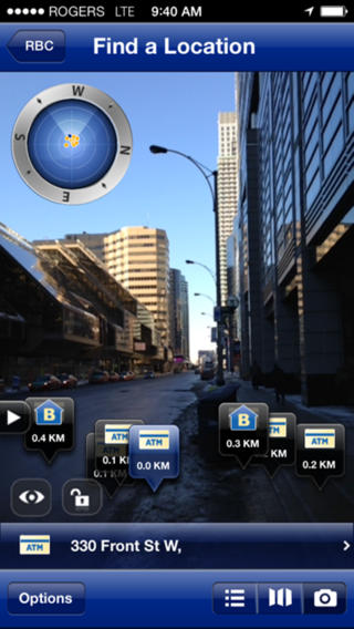 RBC iphone augmented reality