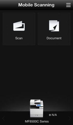 Canon mobile scanning
