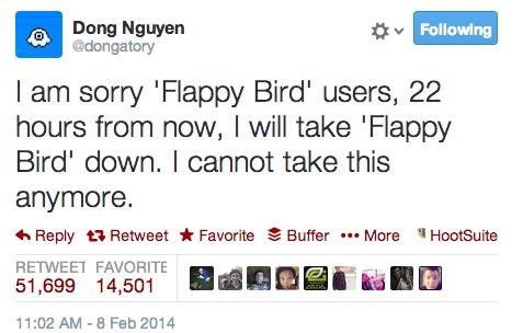 It's Over: Flappy Bird Is No Longer in the App Store