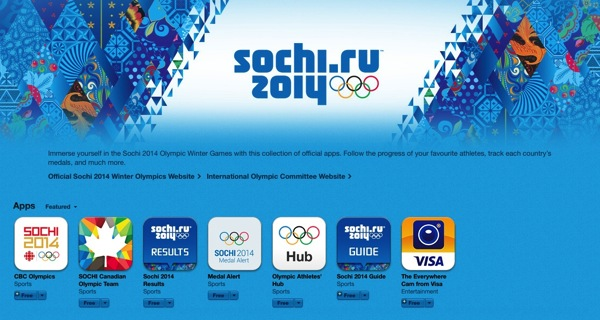 Sochi 2014 ios apps