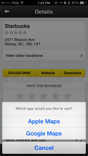 Yellow pages google maps
