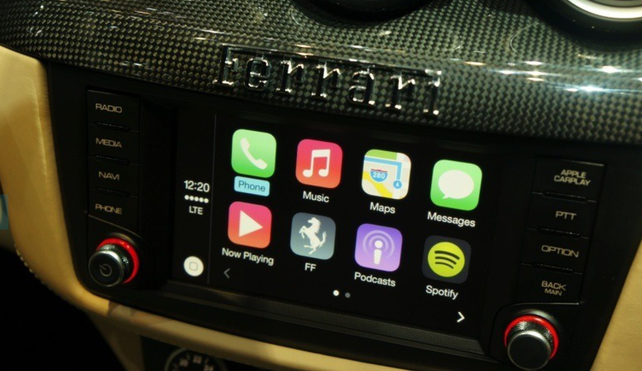 Here's an 8 Minute Walkthrough of Apple's CarPlay in a Ferrari FF