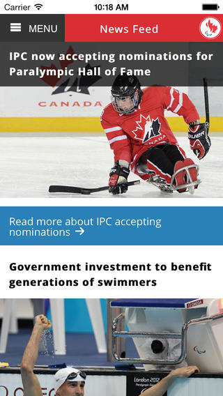 Canadian paralympic team ios
