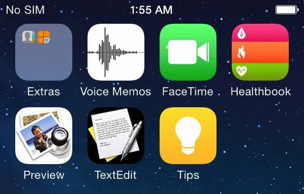 Ios8 screen