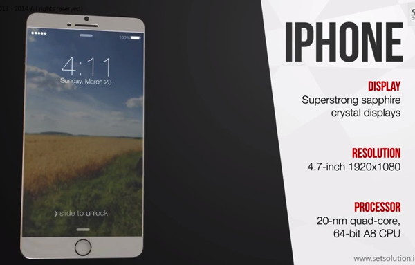 This 'iPhone 6' Concept Shows a Thinner 4.7-Inch Edge to Edge Display