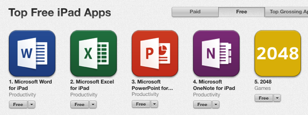 office ipad app store top spots.png