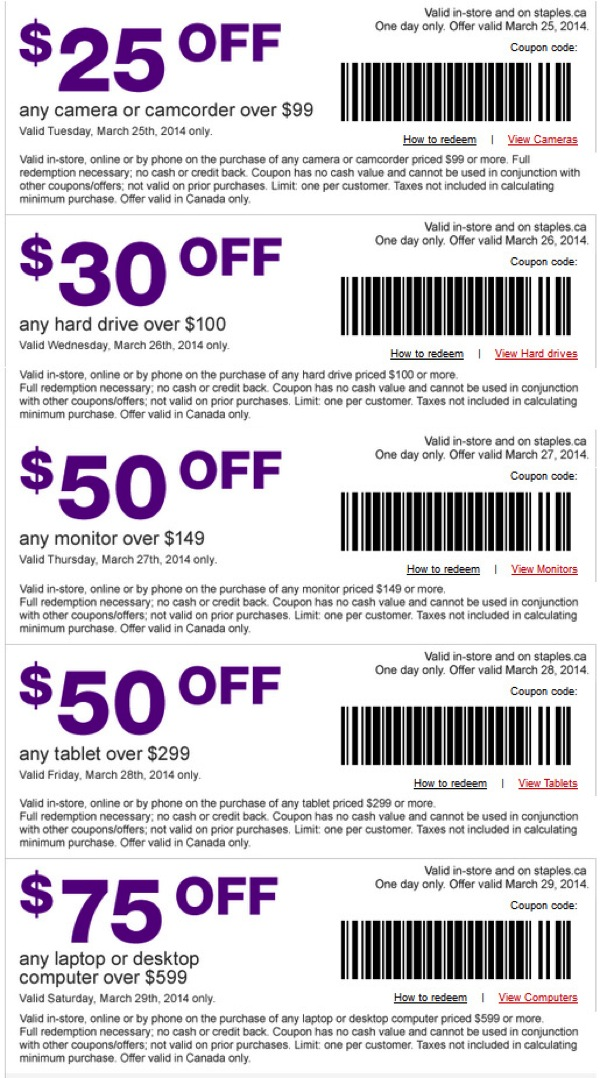 Staples 5 days of deals coupons