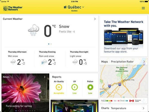 Weather network ipad ios 7