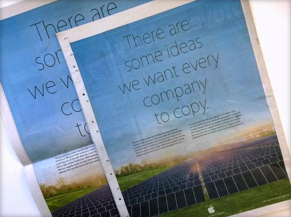 Apple Earth day ad