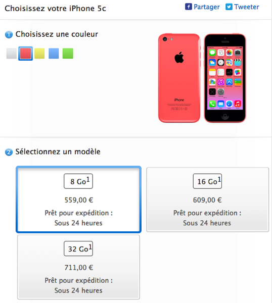 Apple france iphone 5c