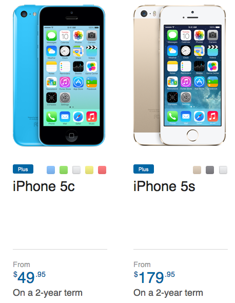 virgin mobile iphone 5c bell mobile cut the iphone 5c to 49 95 iphone 5s 16421