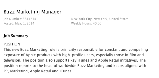 Buzz marketing manager