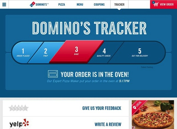 Dominos tracker
