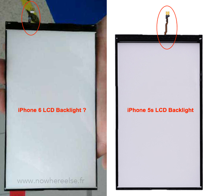 IPhone 6 vs iPhone 5s LCD Backlight